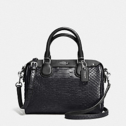 COACH BABY BENNETT SATCHEL IN METALLIC SNAKE EMBOSSED LEATHER - SILVER/GUNMETAL - F36657