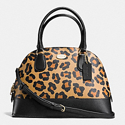 COACH CORA DOMED SATCHEL IN OCELOT PRINT HAIRCALF - IMITATION GOLD/NEUTRAL - F36660