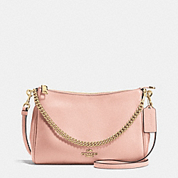 COACH CARRIE CROSSBODY IN PEBBLE LEATHER - IMITATION GOLD/PEACH ROSE - F36666