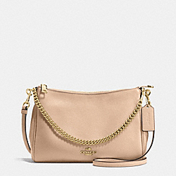 CARRIE CROSSBODY IN PEBBLE LEATHER - f36666 - IMITATION GOLD/BEECHWOOD