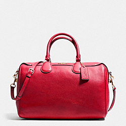 COACH BENNETT SATCHEL IN PEBBLE LEATHER - IMITATION GOLD/CLASSIC RED - F36672