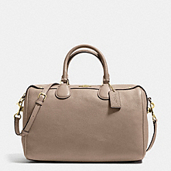 COACH BENNETT SATCHEL IN PEBBLE LEATHER - IMITATION GOLD/STONE - F36672