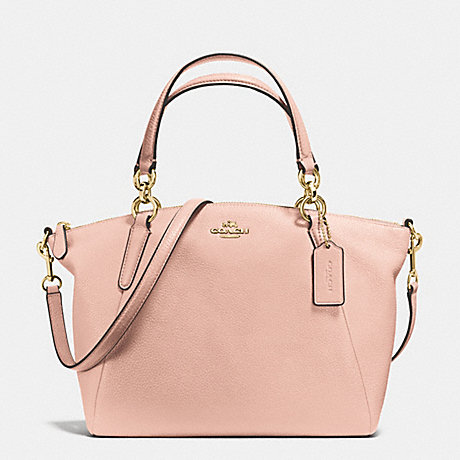 COACH f36675 SMALL KELSEY SATCHEL IN PEBBLE LEATHER IMITATION GOLD/PEACH ROSE