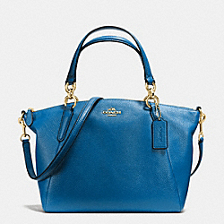 COACH SMALL KELSEY SATCHEL IN PEBBLE LEATHER - IMITATION GOLD/BRIGHT MINERAL - F36675