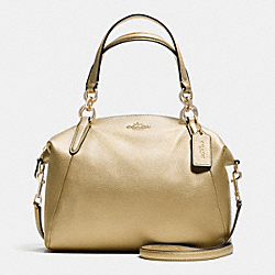 COACH SMALL KELSEY SATCHEL IN PEBBLE LEATHER - IMITATION GOLD/GOLD - F36675