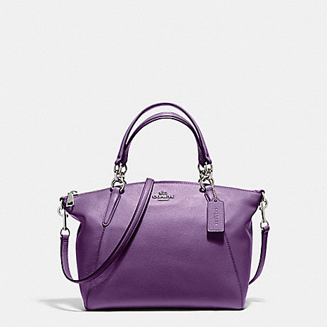 COACH f36675 SMALL KELSEY SATCHEL SILVER/BERRY