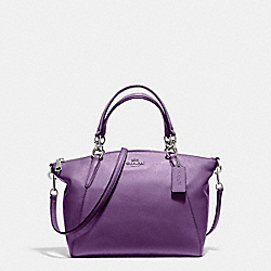 SMALL KELSEY SATCHEL - SILVER/BERRY - COACH F36675