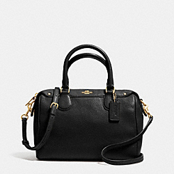 COACH MINI BENNETT SATCHEL IN PEBBLE LEATHER - IMITATION GOLD/BLACK - F36677