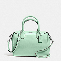 COACH MINI BENNETT SATCHEL IN PEBBLE LEATHER - SILVER/SEAGLASS - F36677