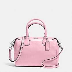 COACH MINI BENNETT SATCHEL IN PEBBLE LEATHER - SILVER/PETAL - F36677