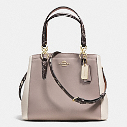 COACH MINETTA CROSSBODY IN EXOTIC TRIM LEATHER - IMITATION GOLD/GREY BIRCH/CHALK - F36678