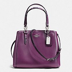 COACH MINETTA CROSSBODY IN EXOTIC TRIM LEATHER - SILVER/PLUM - F36678