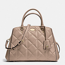 COACH SMALL MARGOT CARRYALL IN QUILTED LEATHER - IMITATION GOLD/STN - F36679