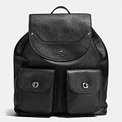 COACH MICKIE BACKPACK IN GRAIN LEATHER - ANTIQUE NICKEL/BLACK - F36683