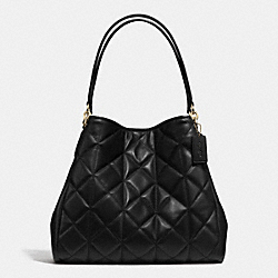 COACH PHOEBE SHOULDER BAG IN QUILTED LEATHER - IMITATION GOLD/BLACK - F36696