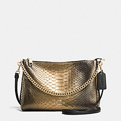 COACH CARRIE CROSSBODY IN METALLIC SNAKE EMBOSSED LEATHER - IMITATION GOLD/GOLD - F36699