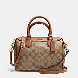 COACH MINI BENNETT SATCHEL IN SIGNATURE - IMITATION GOLD/KHAKI/SADDLE - F36702