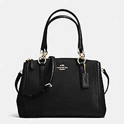 COACH MINI CHRISTIE CARRYALL IN CROSSGRAIN LEATHER - IMITATION GOLD/BLACK - F36704