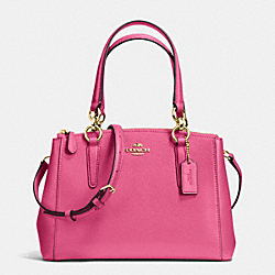 COACH MINI CHRISTIE CARRYALL IN CROSSGRAIN LEATHER - IMITATION GOLD/DAHLIA - F36704