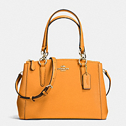 COACH MINI CHRISTIE CARRYALL IN CROSSGRAIN LEATHER - IMITATION GOLD/ORANGE PEEL - F36704