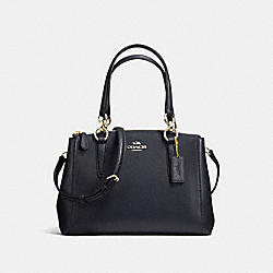 COACH MINI CHRISTIE CARRYALL IN CROSSGRAIN LEATHER - IMITATION GOLD/MIDNIGHT - F36704