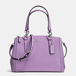 COACH MINI CHRISTIE CARRYALL IN CROSSGRAIN LEATHER - SILVER/LILAC - F36704