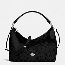 COACH EAST WEST CELESTE SHOULDER BAG IN SIGNATURE - SILVER/BLACK/BLACK - F36716