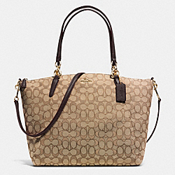 COACH KELSEY SATCHEL IN SIGNATURE - IMITATION GOLD/KHAKI/BROWN - F36722