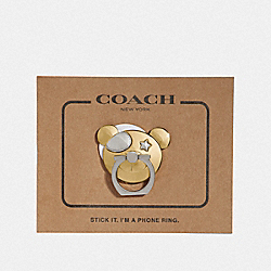 BEAR PHONE GRIP - GOLD - COACH F36805