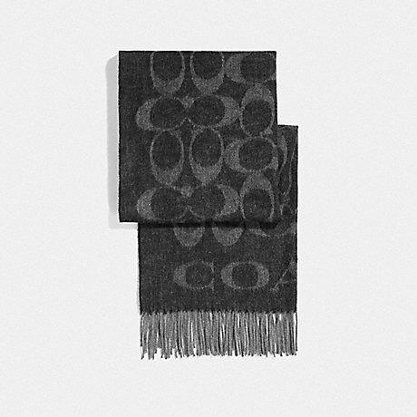 COACH SIGNATURE MUFFLER - BLACK/GREY - F36808