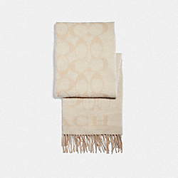 SIGNATURE MUFFLER - VANILLA/LIGHT CAMEL - COACH F36808