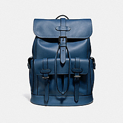 COACH HUDSON BACKPACK - MIDNIGHT NAVY/BLACK ANTIQUE NICKEL - F36811