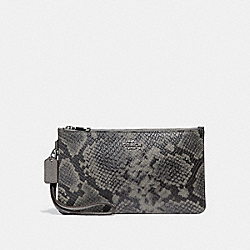 CROSBY CLUTCH - HEATHER GREY/SILVER - COACH F36833