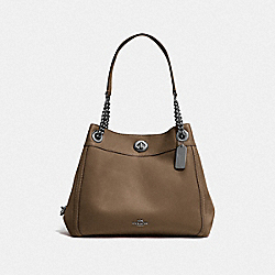 TURNLOCK EDIE SHOULDER BAG - DK/FATIGUE - COACH F36855