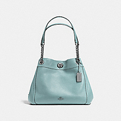 TURNLOCK EDIE SHOULDER BAG - DK/CLOUD - COACH F36855