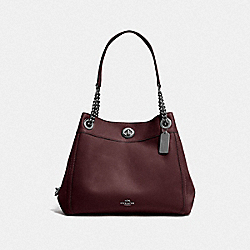 TURNLOCK EDIE SHOULDER BAG - DK/OXBLOOD - COACH F36855