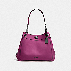 TURNLOCK EDIE SHOULDER BAG - GM/DARK BERRY - COACH F36855