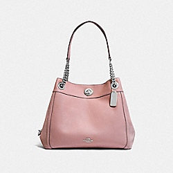 TURNLOCK EDIE SHOULDER BAG - SV/BLOSSOM - COACH F36855