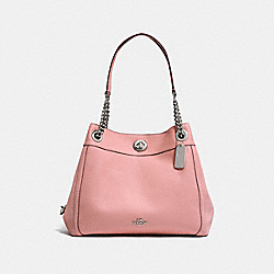 TURNLOCK EDIE SHOULDER BAG - PEONY/SILVER - COACH F36855