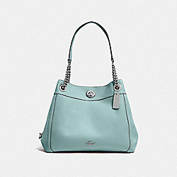 TURNLOCK EDIE SHOULDER BAG - SV/SAGE - COACH F36855