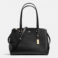 STANTON CARRYALL IN CROSSGRAIN LEATHER - f36878 - LIGHT GOLD/BLACK
