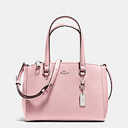 COACH STANTON CARRYALL 26 IN CROSSGRAIN LEATHER - SILVER/PETAL - F36881