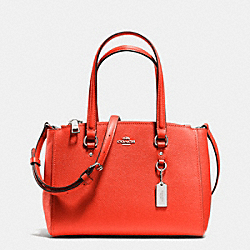 COACH STANTON CARRYALL 26 IN CROSSGRAIN LEATHER - SILVER/ORANGE - F36881