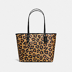 COACH CITY ZIP TOTE IN OCELOT PRINT COATED CANVAS - IMITATION GOLD/NEUTRAL - F36883