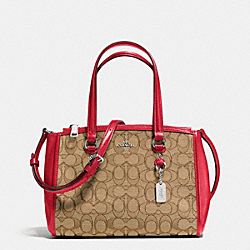 COACH STANTON CARRYALL 26 IN SIGNATURE - SILVER/KHAKI/TRUE RED - F36905