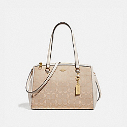 STANTON CARRYALL 29 IN SIGNATURE JACQUARD - LIGHT KHAKI/CHALK/LIGHT GOLD - COACH F36906