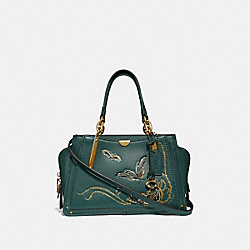 DREAMER WITH TATTOO - EVERGREEN/BRASS - COACH F36914