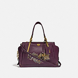 DREAMER WITH TATTOO - PLUM/BRASS - COACH F36914