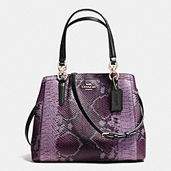 MINETTA CROSSBODY IN PYTHON EMBOSSED LEATHER - f36922 - IMITATION GOLD/PLUM