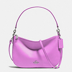 CHELSEA CROSSBODY IN SMOOTH CALF LEATHER - f37018 - SILVER/WILDFLOWER